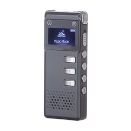 Wholesale Record Audio Card - 8GB Digital Audio Voice Recorder Dictaphone VOR voice control recording MP3 Player Built-in speaker support expansion TF card
