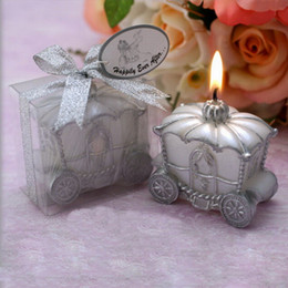 Wholesale Candles Wax Wedding Favors - Brand New Pumpkin Carriage Candle Fairy Tale Candles Christmas Wedding Favors Baby Shower Gifts Wedding SuppliesDHL Free Shipping