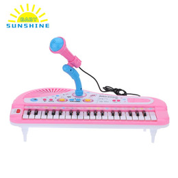 Wholesale Kids Piano Microphone - Electone Mini Electronic Keyboard Musical Toy with Microphone Educational Electronic Piano Toy for Children Kids Babies