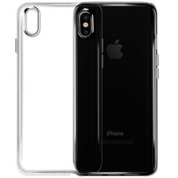 Wholesale Transparent Back Cover For Mobile - For iPhone X Ultra Thin Crystal Transparent Soft TPU Silicone Cover Case Waterproof Mobile Phone Back Case Cover for iPhone