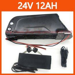 Wholesale Electric Bicycle Battery 24v - New 24V 12AH bottle battery 350W 24V 12AH Electric Bicycle bike lithium ion battery with 15A BMS 29.4V 2A charger free shipping