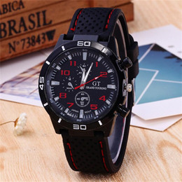 Wholesale Green Luxury Cars - Luxury GT Racing Car Watch Unisex Men Women Military Quartz Wristwatches Silicone Watchband Outdoor Sport Watches Christmas Gifts