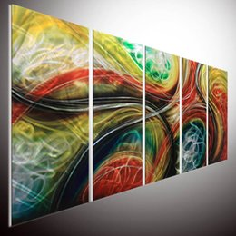 Arte moderna astratta di metallo online-pittura astratta contemporanea arte astratta wall art Metal Wall Art DI ALEXZ Abstract Painting a Sculpture Modern the Internationally