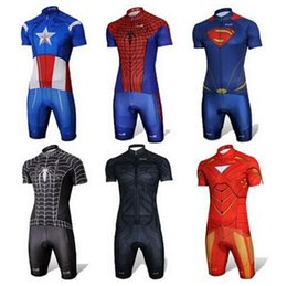 Wholesale Road Bicycle Shorts - Hot Sportswear Captain Spider Men Short Sleeve Cycling Jersey Road Race Bicycle Clothing Mountain Bike Cycling Clothing Summer