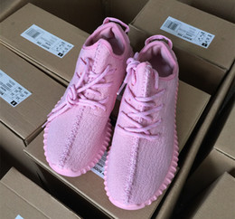 Wholesale Shoes Color Red - 2016 NEW colors Boost 350 For woman shoes purple and Full PinK Color 350 Running Shoes US5-US7.5 with box