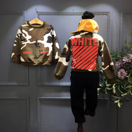 Wholesale Boy Cashmere Shirt - Wholesale- 2016 Korean a boy with cashmere sweater camouflage long sleeved T-shirt jacket free shipping