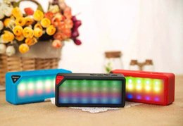 Wholesale Neon Wireless - NEW X3S Portable Wireless Bluetooth Speaker With Colorful Neon Light X3S Calling TF Card FM Line in Function for Smartphone MP3 MP4