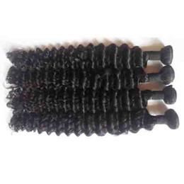 Wholesale Cheap Virgin Russian Hair - Brazilian Peruvian Malaysian virgin human Hair Weft Natural Color Deep Wave hair weft 7A Cheap Indian remy Hair Weave no shedding no tangle