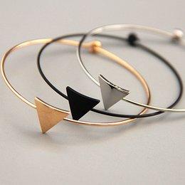 Wholesale Minimalist Designs - Vogue of new fund of 2017 minimalist design very fine copper qualitative geometry triangles female bracelet
