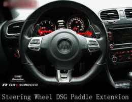 Wholesale Vw Gti Wheels - CARBON FIBRE STEERING WHEEL SHIFT PADDLE Extensions x 2 for VOLKSWAGEN VW GOLF MK5 MK6 GTI R20 DSG PASSAT R36 JETTA SCIROCCO EOS
