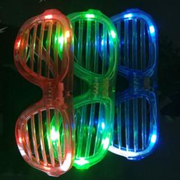 2019 рождественские солнечные очки Светодиодные очки мигающие жалюзи форма очки светодиодные Флэш-очки Солнцезащитные очки танцы праздничные атрибуты фестиваль украшения Рождество дешево рождественские солнечные очки