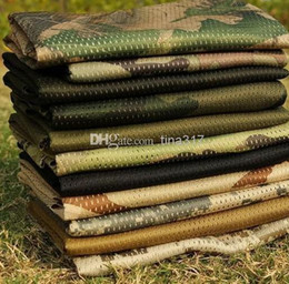 Wholesale Desert Camo Scarf - Tactical Military Windproof Shemagh Desert ARAB Scarves Hijabs Scarf Cotton Outdoor Desert Camo ACU CP camouflage Pattern 100pcs  Lot 0655