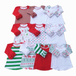 Wholesale Wholesale School Shirts - Raglan Icing Baby T-shirt Knit Cotton Autumn School Girls T-shirts Round Neck Style Shirt Toddler Clothing