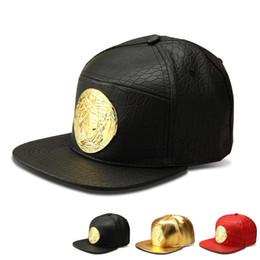 Wholesale Luxury Hats For Women - 2016 New style Faux Leather Gold Rhinestone Crocodile Baseball Caps Mesuda Snapback Hats Luxury hip hop hat for men women gift