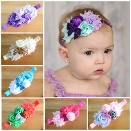 Wholesale Sequin Elastic Wholesale - baby flower Headband sequin hair bow headband hairband Newborn Infants Elastic headband Girls Headwear Children Hair Accessories 20pcs lot