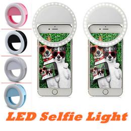 кольцевая скорость Скидка Selfie портативный Flash светодиодные камеры телефон фотографии Кольцо света повышения фотографии светодиодные кольцо Selfie свет для смартфона iPhone
