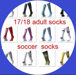 Wholesale Cotton Football Socks - soccer socks 2017-18 wholesale adult football sport long socks 17 18 fit foot size 39-45 discount sale