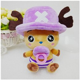 """Wholesale One Piece Baby Doll - Wholesale-Kawaii 8"""" One Piece Plush Toys Doll 4 Colors Cute Chopper Doll for Baby Kids Gift Anime Stuffed Toys Children Juguetes"""