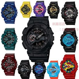 Wholesale G Shock Watch Wholesale - No Box Wholesale Mens G LED Climbing Watches Military GA110 Shockproof Waterproof Women Gift Watch Sports Shock Wristwatch Free by DHL