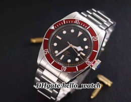 Wholesale Bay Auto - Super Clone Brand Watch 79220R-0001 Black Bay 42mm Mens Watch 79220R Automatic Mechanical Watch Red Bezel Stainless Steel Strap Gent Watch