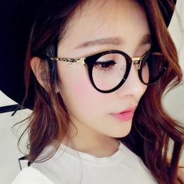 Wholesale Female Popping - POP Star Vintage Eyeglasses Unisex Women's Man's glasses Cat Eye Eyewear Frames Optical Clear Lens Glasses Frame Female Hipster Vintage Spec