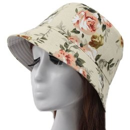 Wholesale Stylish Army Hats - Wholesale-Outdoor Sweet Stylish Trips Flower Pot Hat floral sun Cap Boonie Hunting Fishing cap free shipping G-56