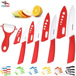 "Wholesale Ceramic Knives Sets - D003 FINDKING Brand top quality kitchen knife ceramic knife 3"" 4"" 5"" 6"" inch + peeler + Transparent Acrylic Stand kitchen set"