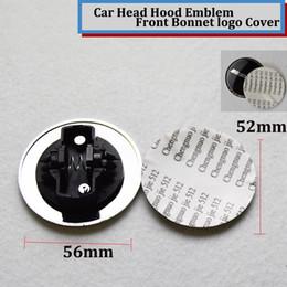 Wholesale Aluminum Hoods - 10pcs lot Head cover 56mm label 52mm Hood car Emblem logo Front Bonnet Badge cover STAR W211 W203 W204 W124 W201 AMG W202 W212 W220 W205 GLA