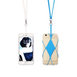 Wholesale Iphone Strap Holder - Silicone Lanyard Mobile Phone Case Cover Holder Sling Necklace Wrist Strap for iphone 6 6s 6plus 7