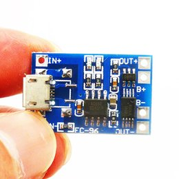 Wholesale TP4056 Micro USB V A Lithium Battery Charger Module Charging Board With Protection Dual Functions