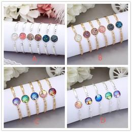 Wholesale Mermaid Bracelet Charms - Fashion 12mm Resin Druzy Drusy Bracelet Silver Gold Color Imitate Natural Stone Mermaid Scale Bracelet For Women Jewelry