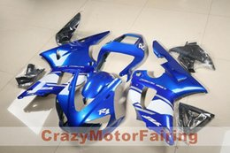 Wholesale Glossy White Yamaha - 3 Free Gifts New motorcycle Fairings Kits For YAMAHA YZF-R1 2000 2001 r1 00 01 YZF1000 hot style blue white glossy