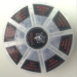 bobinas de clapton fundido Desconto 8 em 1 kit de fio de bobina de aquecimento de entalhe de demônio assassino com Clapton colmeia