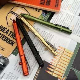 car bolts Coupons - High quality H882 Free Shipping New Outdoor Tactical Bolt Brass Pen CNC Process Aluminum Alloy EDC