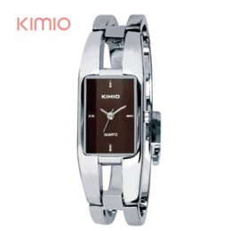 Wholesale Kimio Brand For Watch - Kimio Woman Watches 2015 Brand Luxury Rectangle Stainless Steel Bracelet Watch For Women Dress Quartz-watch Wristwatches Clock