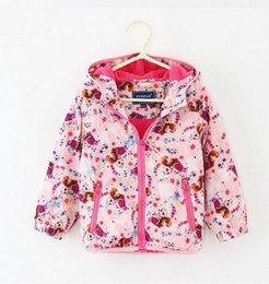 Wholesale Girls Feather Jacket - Fashion Baby Girls Coat Autumn 2016 New Windproof Warm Hooded Jacket Toddler Girl Clothing Kids Girl Clothes Outwear coats