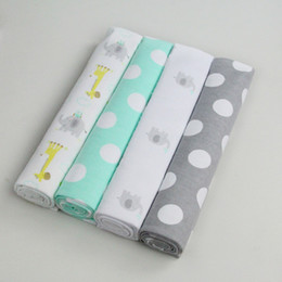 Wholesale Infant Washcloths - AbaoDo 75 X 75cm baby 4 receiving blankets flannel cotton infant washcloth nice quality newborn swadling