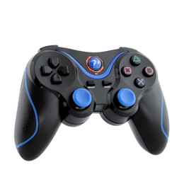 Wholesale Bluetooth Laptop Remote - 2016 Wireless Game Bluetooth Remote Joystick Controller For Sony for PS3 Playstation 3 laptop Black Blue