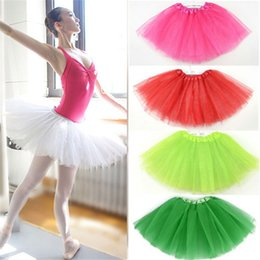 Wholesale Kids Ballet Purple Skirt - New girls ballet tutu skirt for babys fluffy tutu skirt pettiskirt for kids Ballet skirt 2143