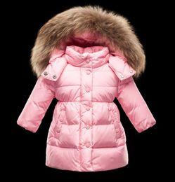 Canada Doudounes 2 couleurs pour filles avec capuche fourrure Doudounes MO ENFANT JUSTIN Offre