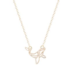 Wholesale Detail Gift - 10pcs lot New Women Pendant Necklace Detailed Whale Cut Out Shaped Animal Charm Necklace For Girl Gift