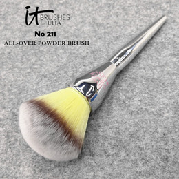 Wholesale Professional Live - Brand Professional Makeup Brushes it cosmetics brush for ULTA #211 live beauty fully all over powder make up blending contour brush kit.