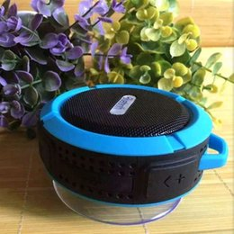 Wholesale Outdoor Center - C6 Outdoor wireless Mini Speaker Sports Portable Waterproof Bluetooth Speaker Suction Cup Handsfree MIC Voice Box for Smartphone DHL Free