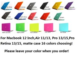 Wholesale Transparent Laptop Covers - Matte Transparent Rubberized Hard Case Cover & Keyboard Skin For Macbook Air 11.6 13.3 Pro 13 15 Retina 12 Inch