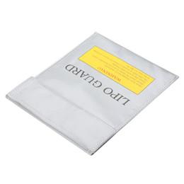 Sacchetto di sicurezza per batteria LiPo RC di alta qualità Sacco per carica di guardia sicura 22 * 18 cm Argento da antenna argento fornitori