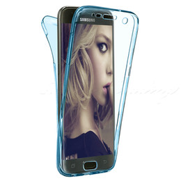Wholesale Galaxy S3 Back Cover Blue - Case For Samsung Galaxy S3 S4 S5 S6 S6 Edge S7 Edge J3 J5 J7 Front Back Shockproof 360 Full Protective Clear Gel Silicon Luxury Phone Cover