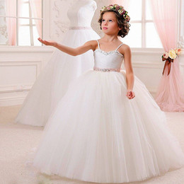 Wholesale Toddler Wedding Vest - 2016 NEW Wedding Party Formal Flower Girls Dress baby Pageant dresses Birthday Communion Toddler Kids TuTu Dress For Wedding