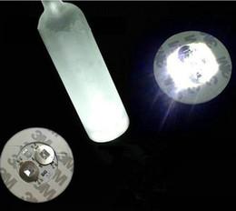 Wholesale Bright Glow Sticks - Wholesale- Super bright 3mm 4 LED Flashing Lights Bulb Bottle Cup Mat Coaster LED glorifier mini glow stick For Clubs Bars Party-WHITE