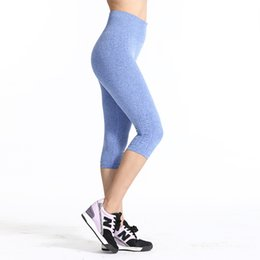 Wholesale Tight Black Leggins - Wholesale-Women Sports Yoga Pants Women Running Trousers Elastic Compression Tights Fitness Gym Dry Quick Leggins Calzas Deportivas Mujer