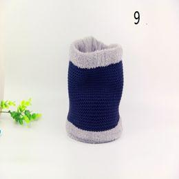 Wholesale Male Stripe Scarf - Unisex Shawl Neck Warm lic Male Winter Knitted Thick Snow Woolen Man Woolen Scarf Solid Collar Wrap Ring Muffler 77